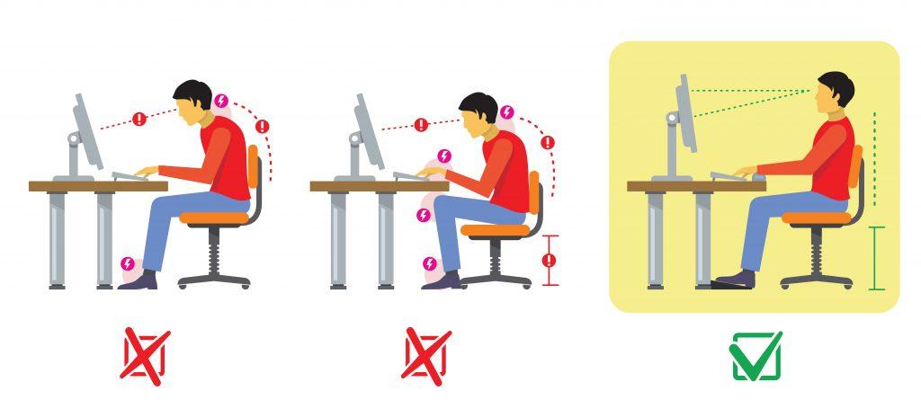 ป้องกันออฟฟิศซินโดรมด้วยการปรับพฤติกรรมการนั่งทำงานหรือใช้คอมพิวเตอร์ที่ถูกหลัก