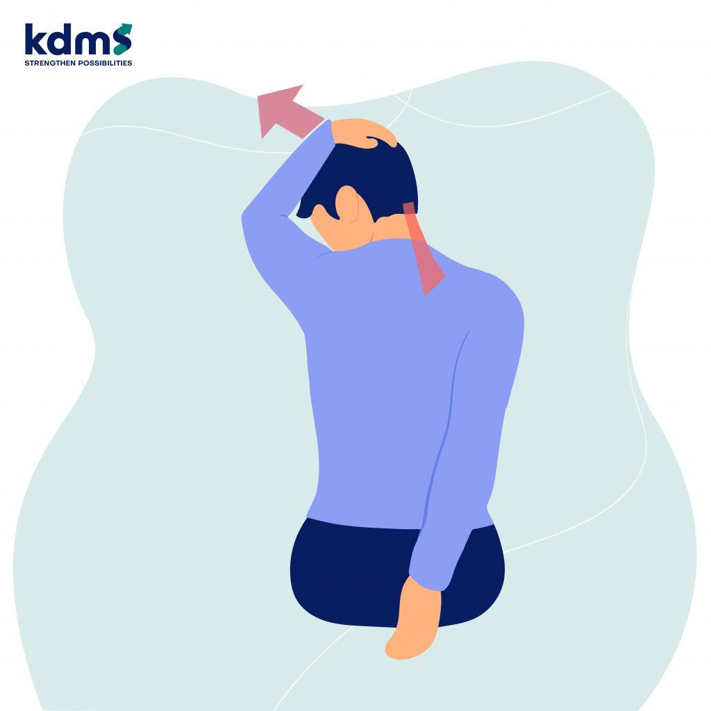 การออกกำลังกายกล้ามเนื้อคอ บ่า ไหล่ โดยยืดกล้ามเนื้อคอและไหล่