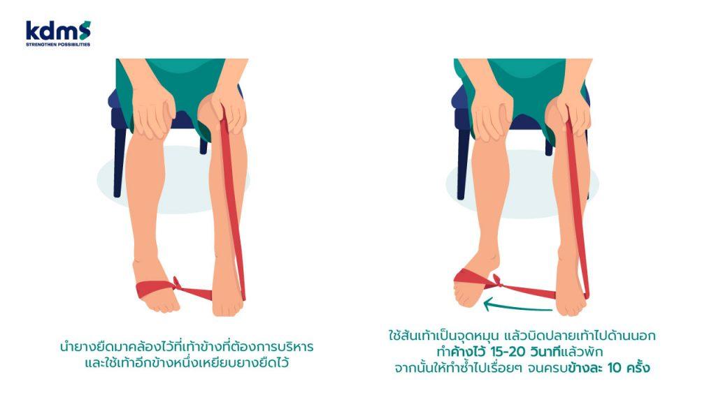 ท่าบริหารเส้นเอ็นด้านข้างข้อเท้า เพื่อเพิ่มความแข็งแรงของข้อเท้าด้านข้าง